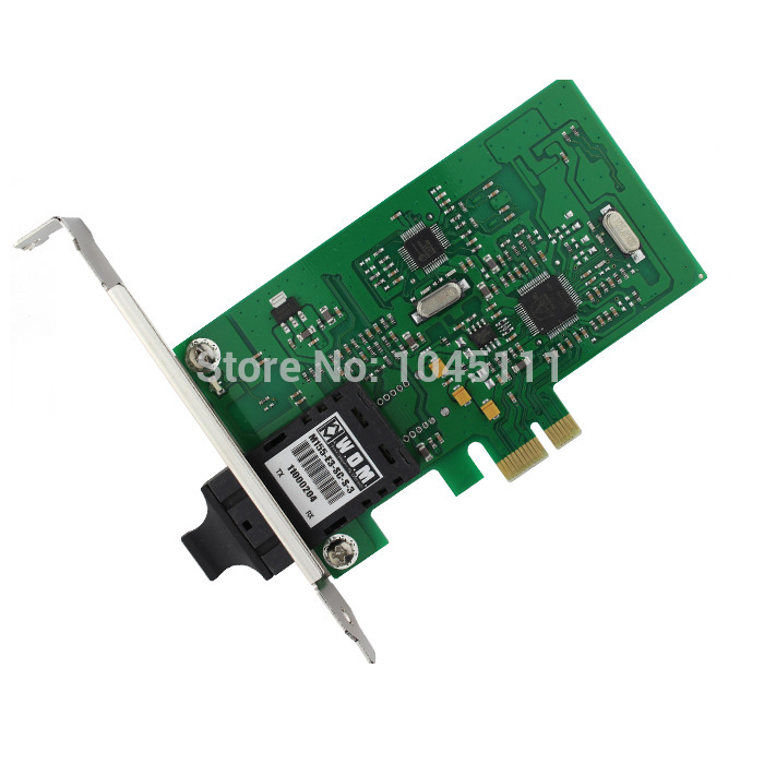 все цены на Winyao WY100FX-SC PCI-E X1 100Mbps Fiber Optic Ethernet Network Adapter NIC diskless Desktop SC Singlemode Atheros онлайн