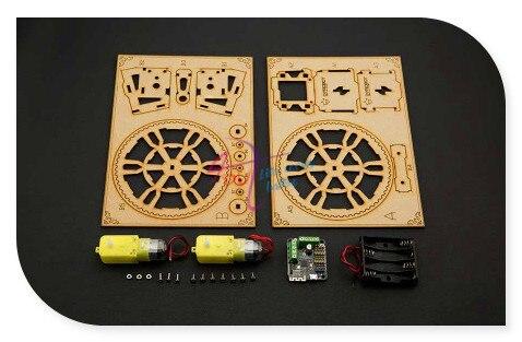 DFRobot FlameWheel Робот/Дистанционного Управления двух колесный Робот, 6 ~ 10 В Romeo BLE Мини контроллер Поддержка Bluetooth + iOS App управления