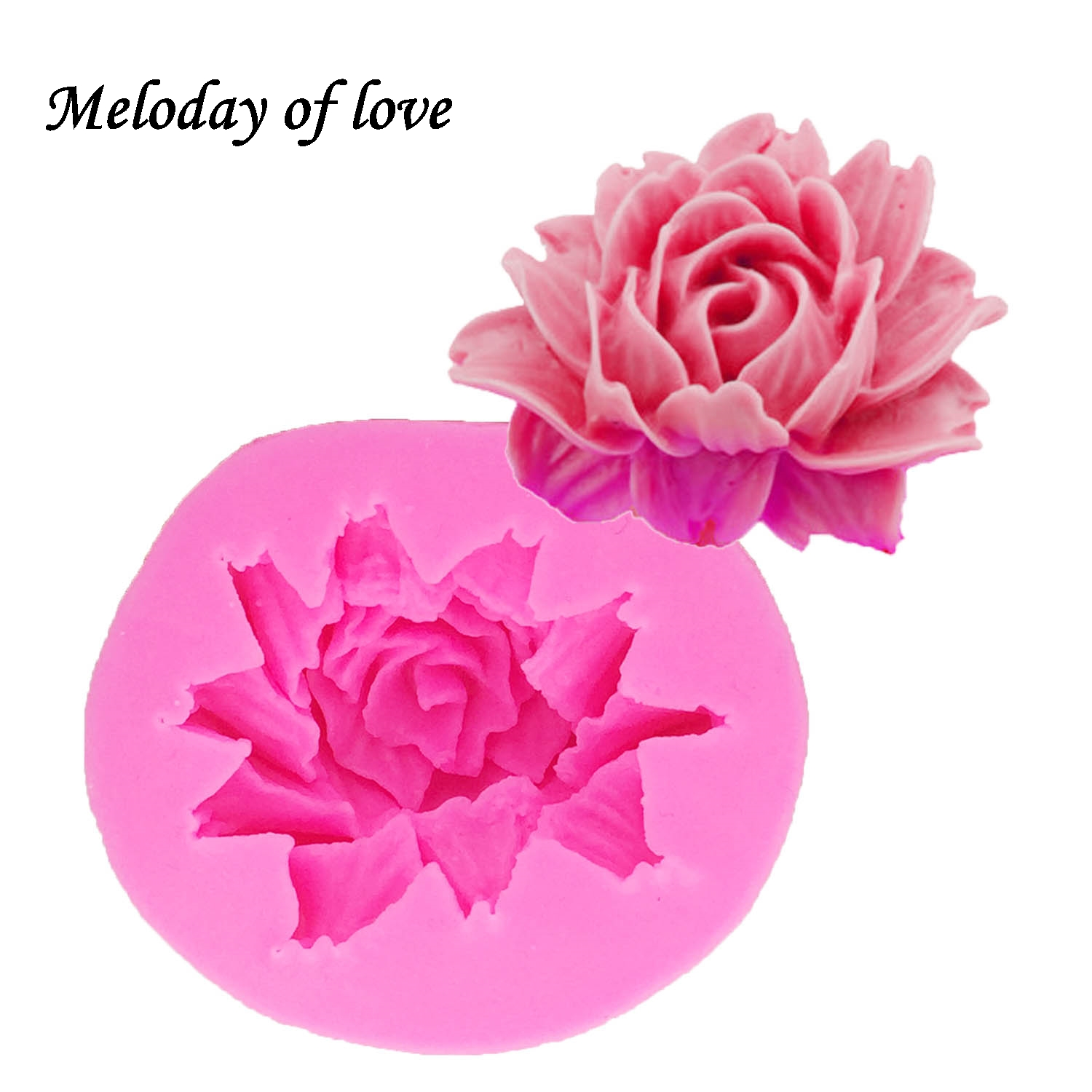 1 Pc 3d Rose Flower Silicone Mold For Fudge Cake Decorating Chocolate Cookies Soap Clay Resins Kitchen Baking Tools Stencil And To Have A Long Life. Arts,crafts & Sewing Pottery & Ceramics