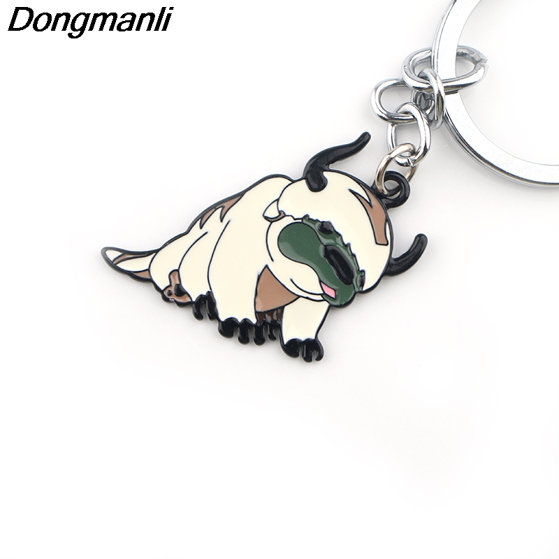P3881 Dongmanli Avatar The Last Airbender Key Holder Cute Enamel Metal Pendant Car Keychain For Key Rings Gifts in Key Chains from Jewelry Accessories