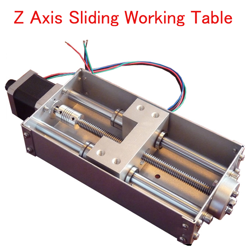 Z Axis Sliding Working Table 140mm Stroke CNC Z Axis for CNC Engraving Machine Kit high quality 1pcs z axis sliding working table 150mm 60mm 3 axis diy milling linear motion for cnc engraving machine new