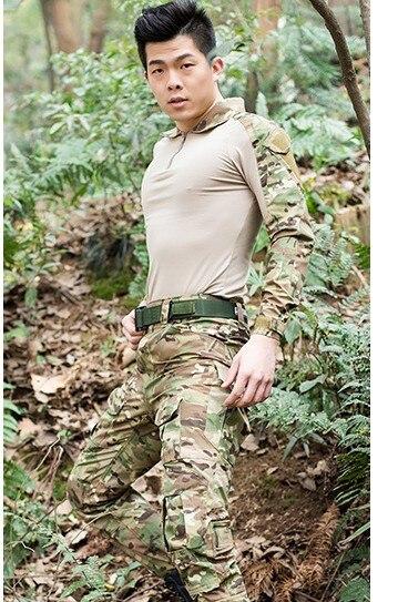 Livraison gratuite, costume de grenouille armée de qualité de marque noire, uniforme militaire tactique multicam hommes ensembles, acu, cp, mandrake combat - 4