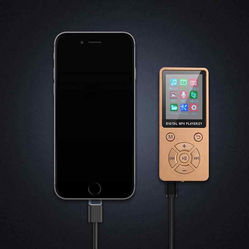 MP4 Media Player wsparcie 32G TF karty Ultra cienki bezstratny dźwięk 1.8 ''Mp4 odtwarzacz z FM E-book Mini błyszczące USB klip ekran LCD