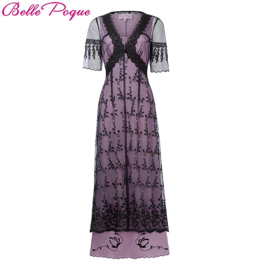 Belle Epoque mujeres retro vestido gótico del Victorian del Vintage ...