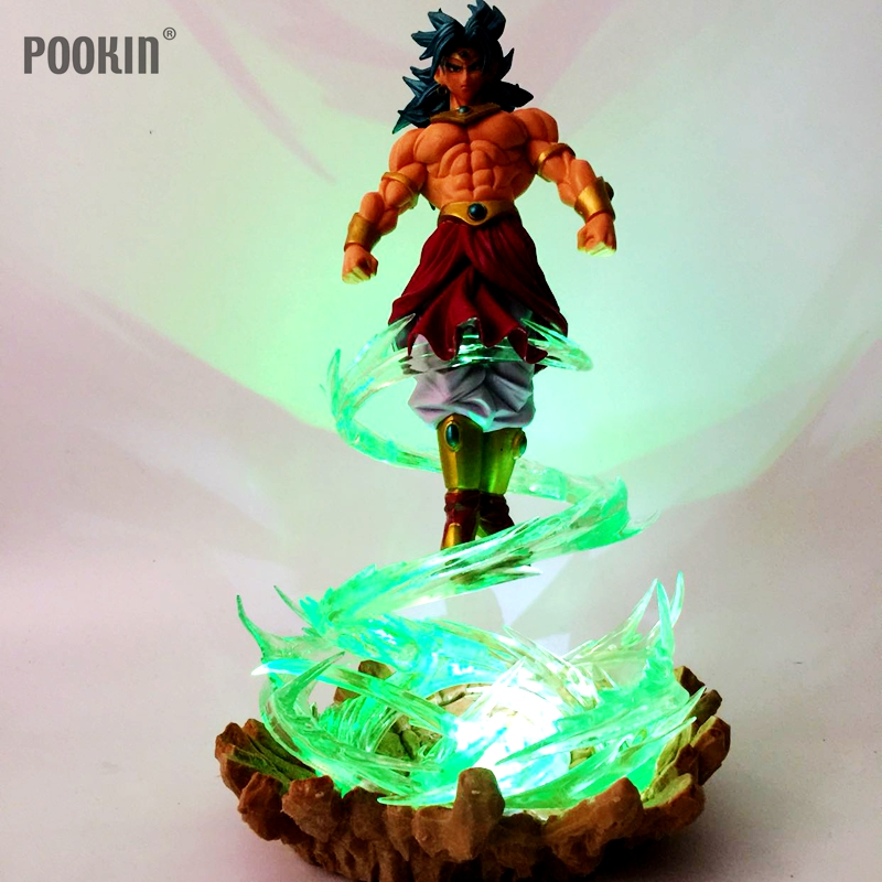 Dragon Ball Z Broly Led Light Green Fire Power Base Dragon Ball Super Action Figure Dbz Broly Broli Decor Light Christmas Gifts Discounts Sale Lights & Lighting