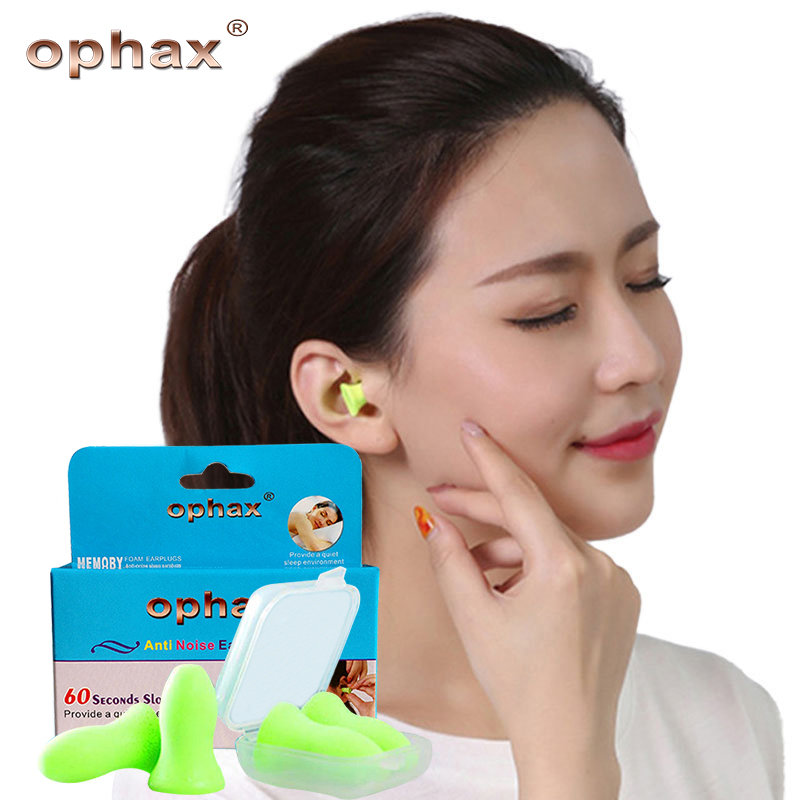 OPHAX High Quality Soft Foam Anti Noise Ear Plugs For Sleep Noise Reduction Noise Prevention Earplugs Travel Sleeping 4pcs/box new fasion cute 1pair colour soft ear plugs sleep work travel plane earplugs noise reducer good quality