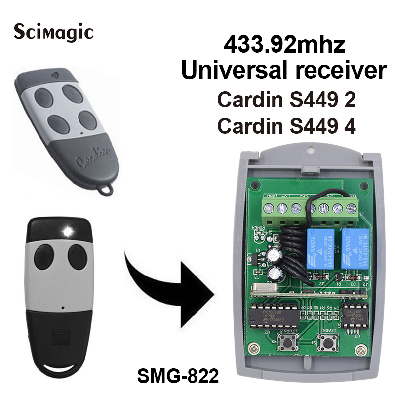 433.92MHz Receiver For Cardin S449 Rolling Code Remote Control For CARDIN Garage Door Gate