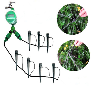20m micro irrigation hose set DIGITAL BALL VALVE WATER TIME with 30pcs high quality inserted sprinkler