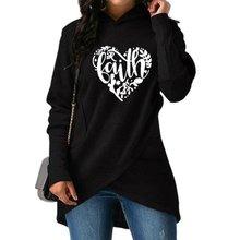 High Quality Large Size 2018 New Fashion Faith Print Kawaii Sweatshirt faith Jesus Crossover Hoodie