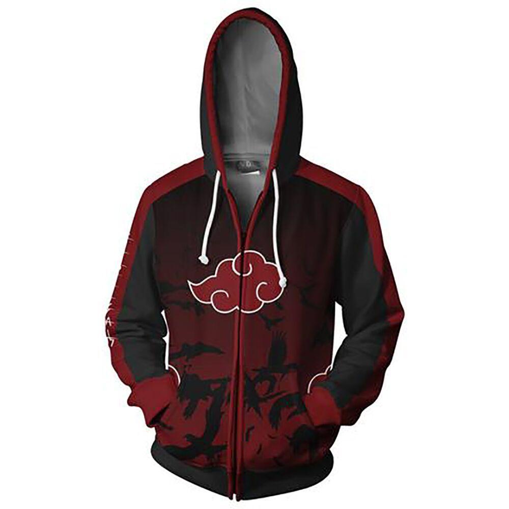2018 Autumn Winter 3D Print Naruto Men Sweatshirts Hoodies Fashion Avengers Cosplay Casual Zipper hooded Jacket clothing