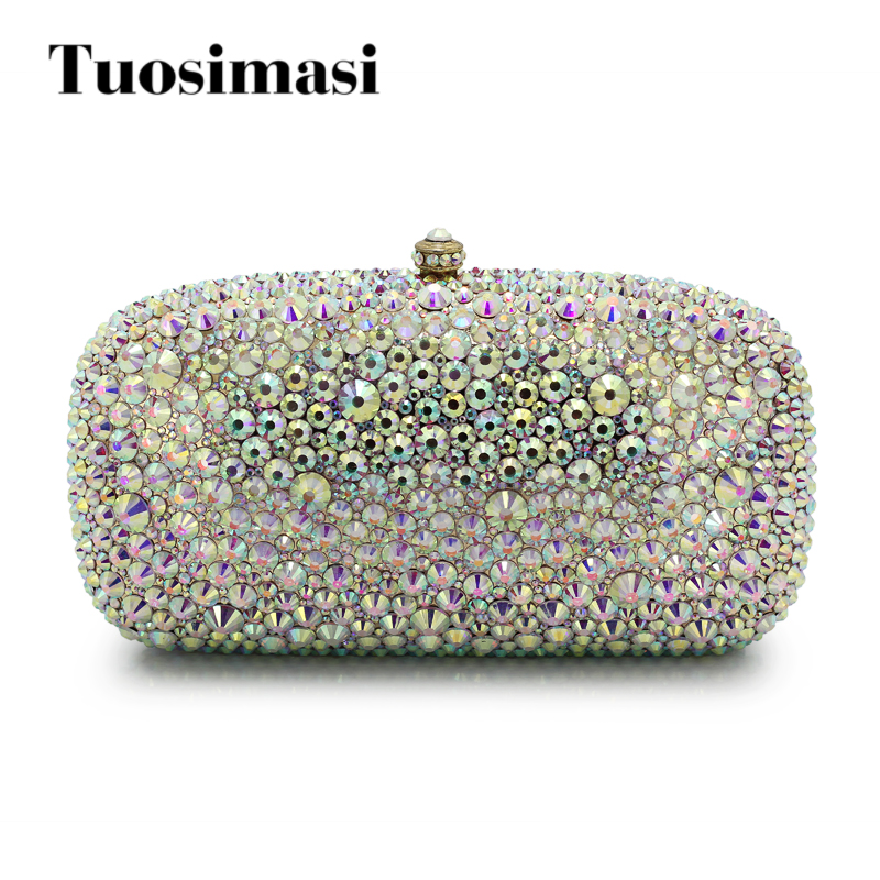 New arrival diamond full crystal rhinestone women clutch metal bag bridal dress party handbag evening bag white (1017-WP) europe new upscale butterfly diamond evening bag full diamond party handbag clutch