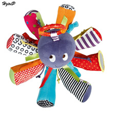 Baby Rattle Octopus Toy Bed Hängande Bell för BB Rattles Magic Mirror Spädbarn Teether Leksaker Leksaker Plush Toy Doll Newbron Gift