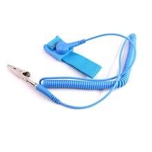 ПВХ ESD синий разряд Антистатический браслет Антистатический ESD контроль браслет на запястье