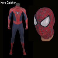 Hero Catcher Top Quality Movie Spiderman Cosplay Costume For Halloween Amazing Spider man Costume Spandex Spiderman Suit