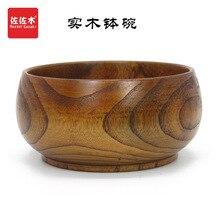 free shipping chinese/asian/japanese style Large size  Rice/Noodles/Sushi/Food/Sugar/Soup/Fruits wood bowl15.5-17.5cm