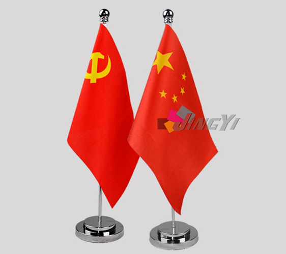Wholesale Cheap Mini Table/Desk Top Stand Flag with custom print
