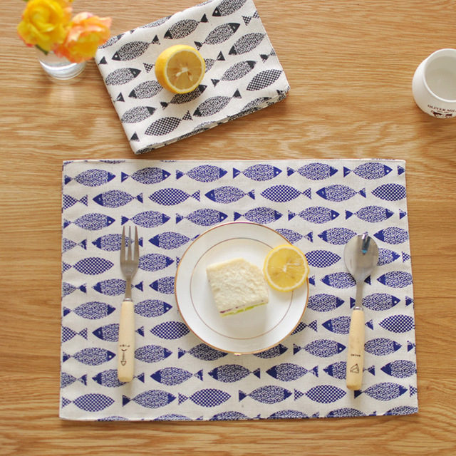 Table Mats Tableware Mats Pads Minimalist Cloth Placemats Fish Table - Table pads for sale