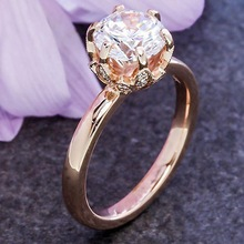 Luxury Female CZ Stone Ring 925 Silver/18KT Rose Gold Filled Jewelry Vintage Wedding Band Promise Engagement Rings For Women 925 silver jewelry diamond rings rose gold costume jewelry topaz vintage luxury ladies zircon ringen black ring tungsten b1001