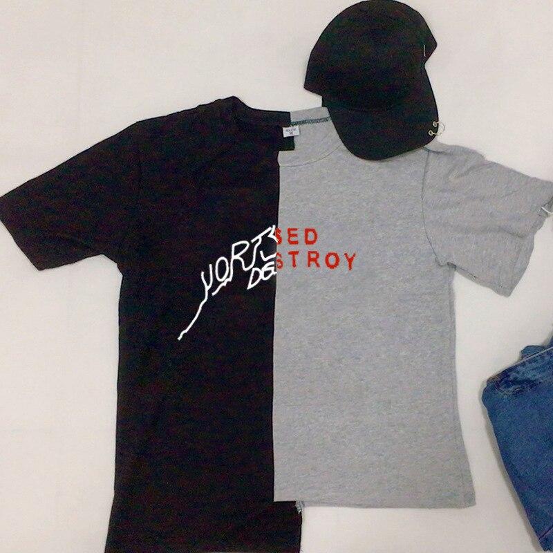 d1e7d032a55 Kpop Bantan Boys J HOPE Same Cotton Tshirt Black Gray Tee DESTROYED Short  Sleeve Fashion Summer Tops