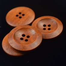 10PCS Large Wooden Buttons Round Sewing Button for Sweater Coat Clothing Craft Scrapbooking 4 Holes Button Sewing Accessories