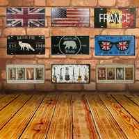 Métal étain signes natif renard drapeau National Vintage Garage Plaque d'immatriculation Plaque affiche Bar Club mur décoration de la maison 30*15CM C7