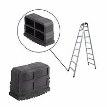 2 шт./лот резиновая Лестница ноги Нескользящая лестница сцепление Сменные ножки защитные резиновые ноги коврик для ступней лестницы подушка подошва черный
