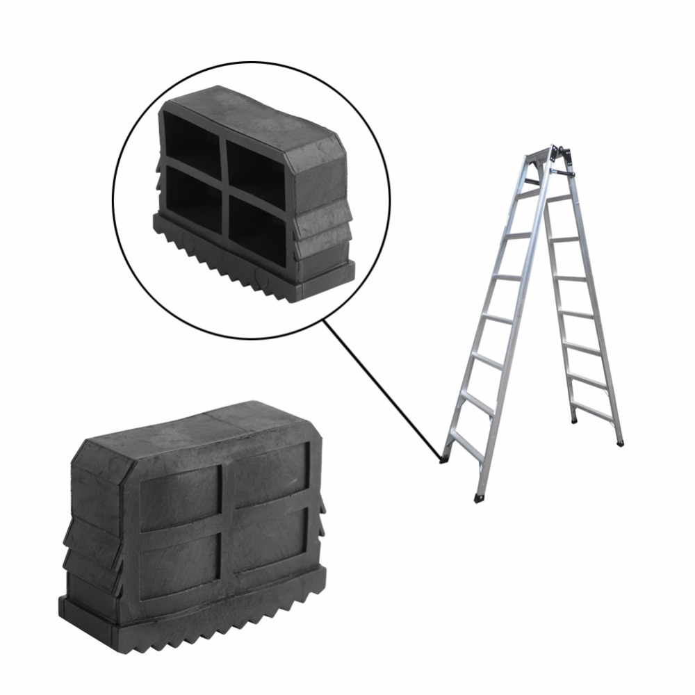 2Pcs/Lot Rubber Ladder Feet Non Slip Ladder Grip Feet Replacement Safty Rubber Feet Foot Mat For Step Ladder Cushion Sole Black