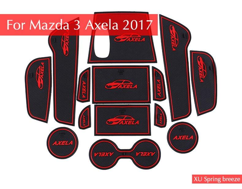 For Mazda 3 Axela 2017 Car Cup Anti Slip Mat Pad Car Styling 2pcs universal solar led car cup holder mat pad bottle drinks coaster built in vibration light sensor car styling led pad hot