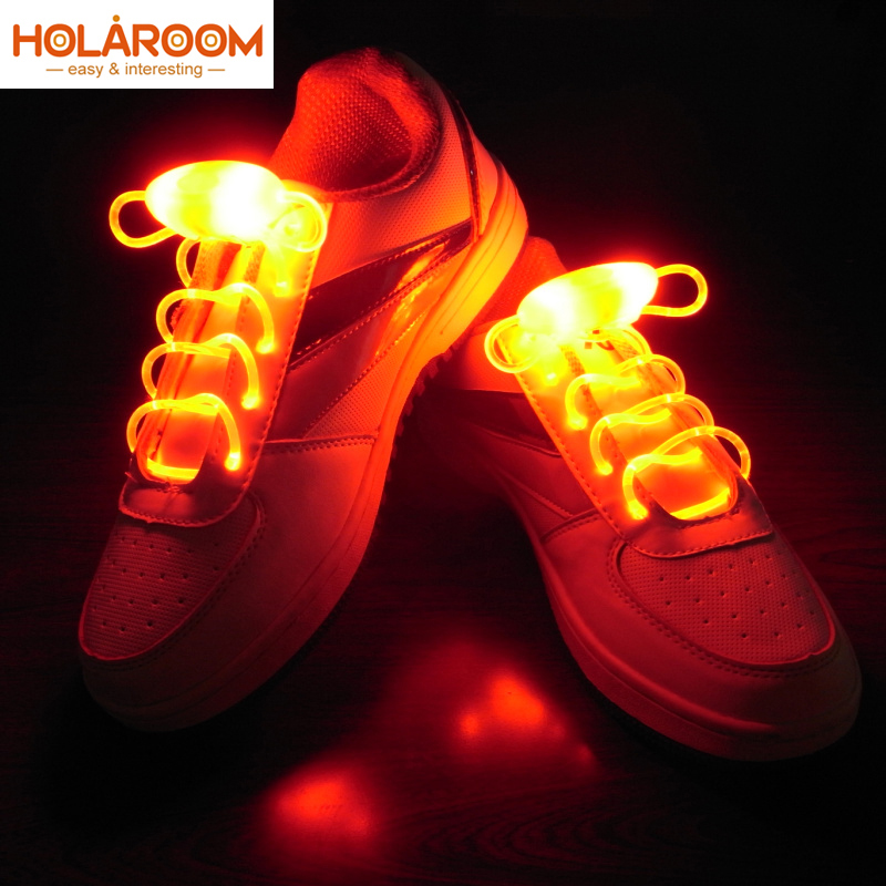 2PCS Luminous Shoelace Flash Glowing Flat Shoe Laces Strings Running Shoe Laces
