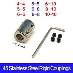 Silnik cnc o wysokiej wytrzymałości sprzęgło wału 4/5/6/8/10mm sztywne sprzęgła 45 stalowe sprzęgło wału napędowego silnika napędowego