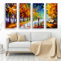Leonid Afremov 4pcs Frameless Oil Painting Home Decor Wall Art Picture Printing Canvas