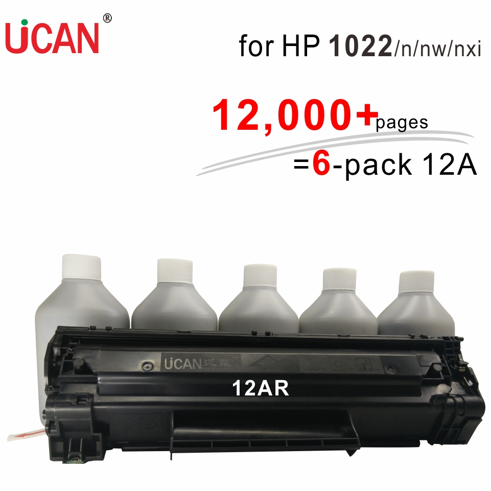 UCAN CTSC(kit) 12A for Hp LaserJet 1022 1022n 1022nw1022nxi Printrt Cartridge  12,000 pages 1 kit equal to 6-Pack ce278a 278a toner cartridge for hp laserjet pro m1536dnf p1606dn p1560 p1566 p1600 ucan ctsc kit 12 000 pages refill kits