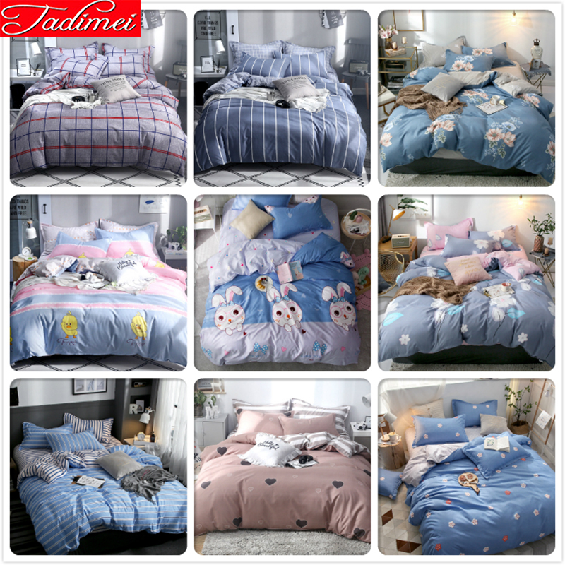 High Quality Soft Cotton Duvet Cover Bedding Set Adult Kids Bed Linen Bedspreads Single Queen King Size 150x200 180x220 200x230