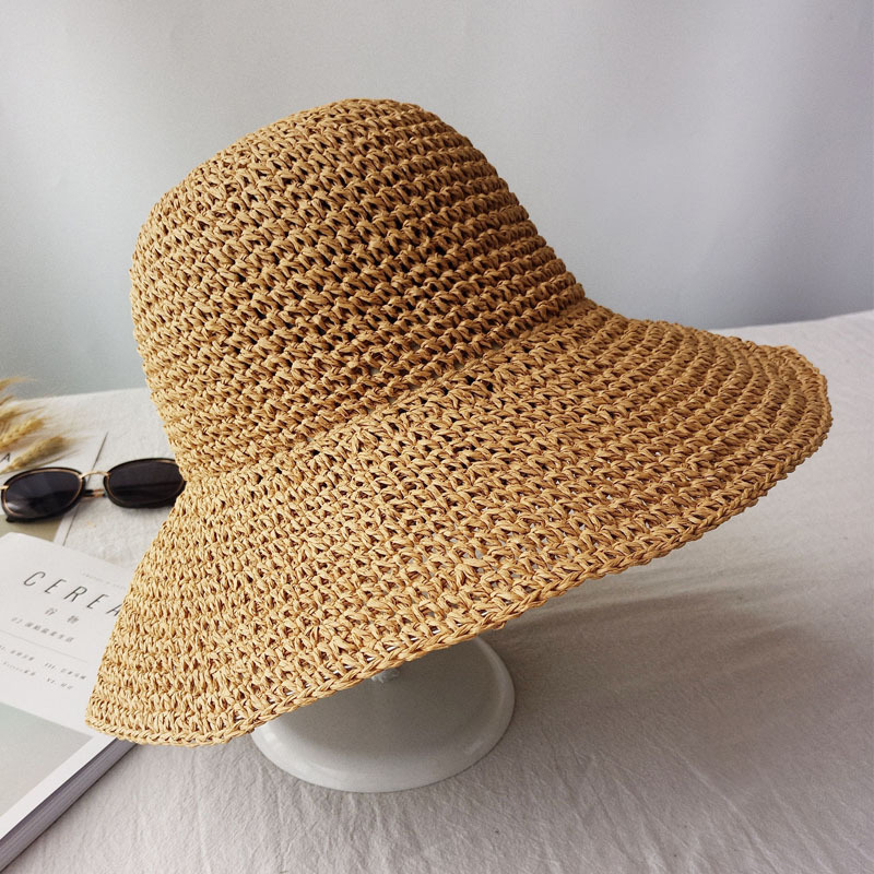 2019 Summer Fashion Women Straw Hat Lady Summer Sun Hat Visor Cap Panama Style Bucket Cap Strawhat Beach Hat Outdoor Girl Cap