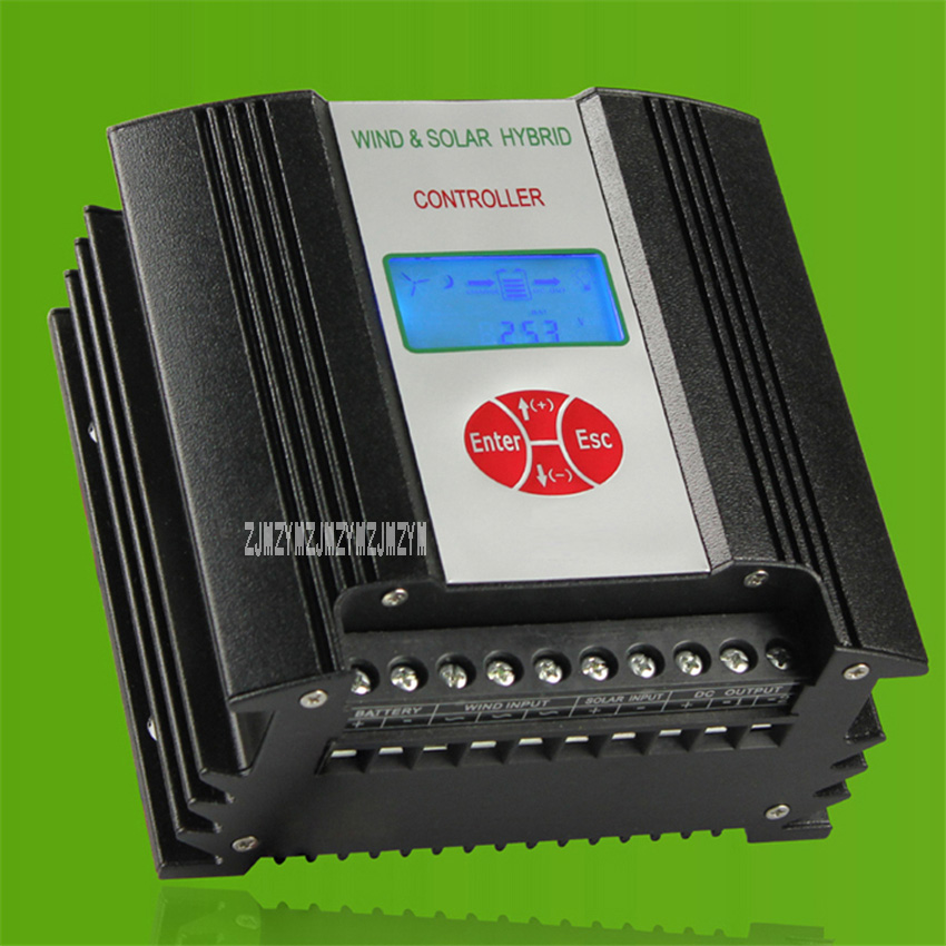 24V/48V High-end Intelligent LCD Display 600W Wind Solar Hybrid Controller For Street Light Monitoring Wind Turbines Hot Sale hot sale saipwell sx sxn wind solar hybrid street light controller with nightlight function 12 24v 40a type sx40