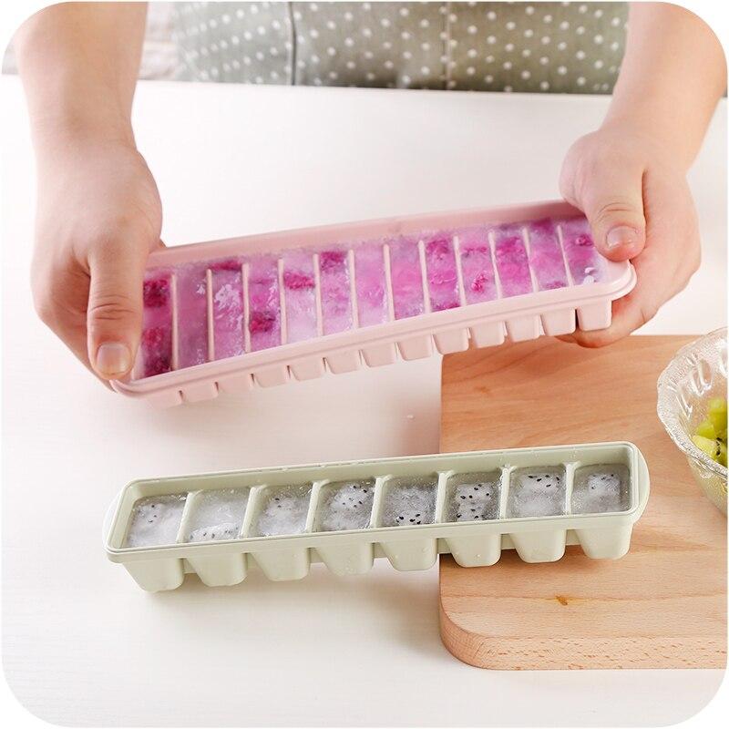 Creative Household Refrigerator Ice Making Box Cover with Multi Ice Lattice Box Mold Block Mold Make Frozen Yogurt Ice Box