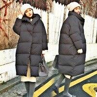 Зимняя теплая куртка пуховик для беременных, Модные свободные куртки для беременных, большие размеры, верхняя одежда для беременных, зимняя