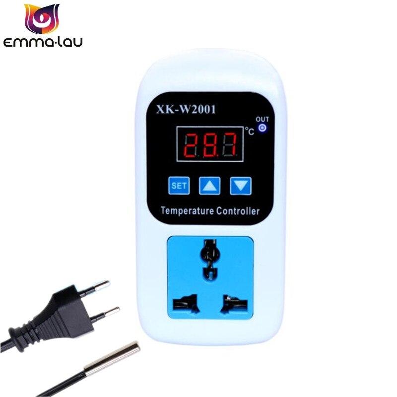 LCD Display NTC Mini Digital Temperature Controller 220V 10A Thermostat EU Plug