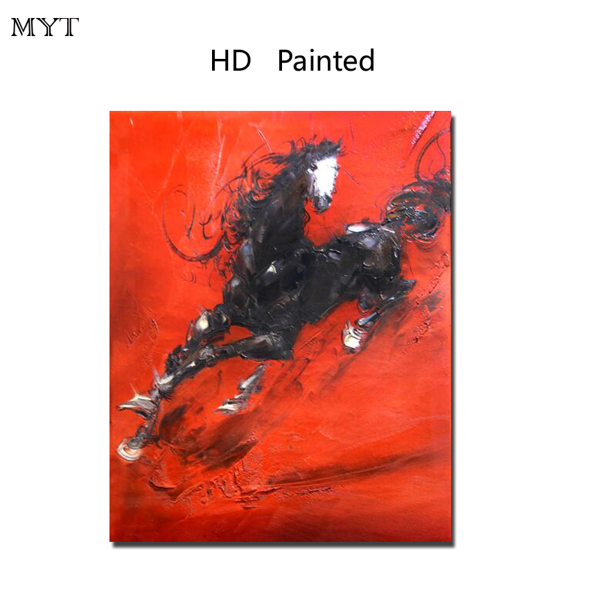 Fashion hot sale HD Printed Painting Home Decor Art Picturere red horse for bed room living room No Framed or Diy Framed