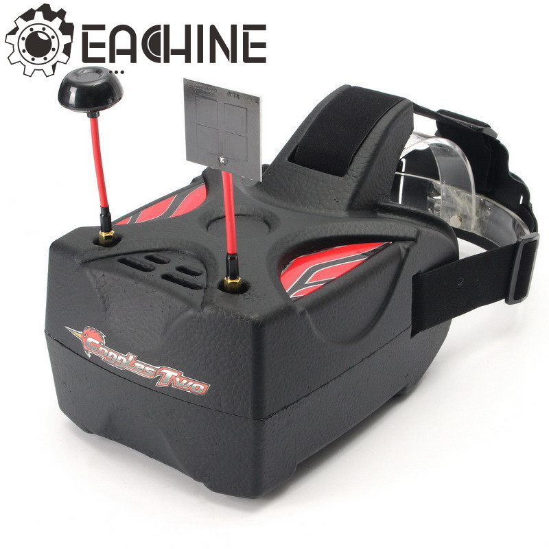 Eachine Goggles Two 5 Inches 5.8G Diversity 40CH Raceband HD 1080p HDMI FPV Goggles Video Glasses fpvok fpv 5 8 ghz 40ch rd40 raceband dual diversity receiver with a v and power cables