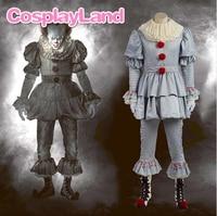 Стивен Кинг Косплэй костюм это Pennywise костюм клоун костюм костюмы на Хэллоуин для Для мужчин индивидуальный заказ костюм