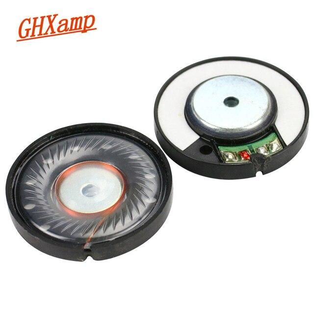 GHXAMP 40mm kulaklık hoparlör ünitesi neodimyum kulaklık sürücüsü 112db HIFI orta bas hoparlörler için onarım parçaları kulaklık 2 adet
