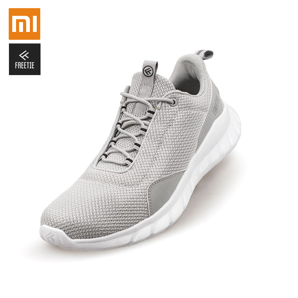 Original Xiaomi FREETIE 39 44 Plus Size Men's Sports Shoes Light Breathable Knitting City Running Sneaker for Outdoor Sports