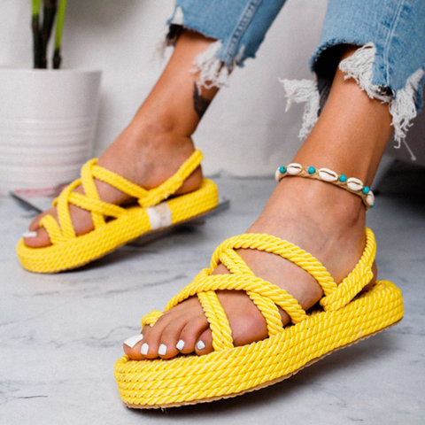 Women Shoes for summer Cross Lace-Up Casual Sandals fashion beach shoes plus size DD198Women Shoes for summer Cross Lace-Up Casual Sandals fashion beach shoes plus size DD198