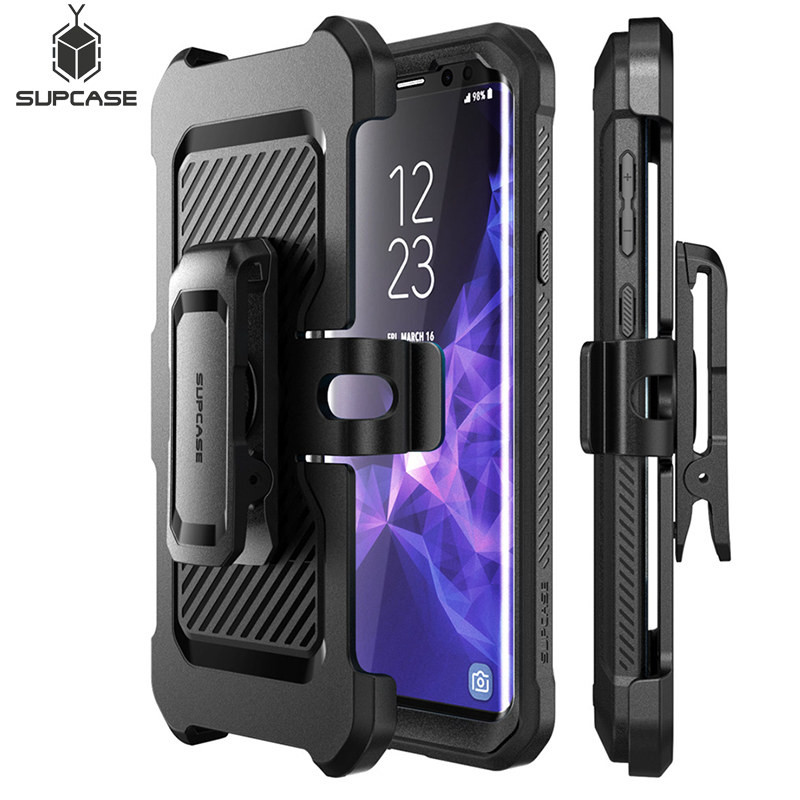 finest selection 62083 20bcf US $19.99 |SUPCASE For Samsung S9 Case UB Pro Full Body Rugged Holster  Cover with Built in Screen Protector Case For Samsung Galaxy S9-in Fitted  Cases ...