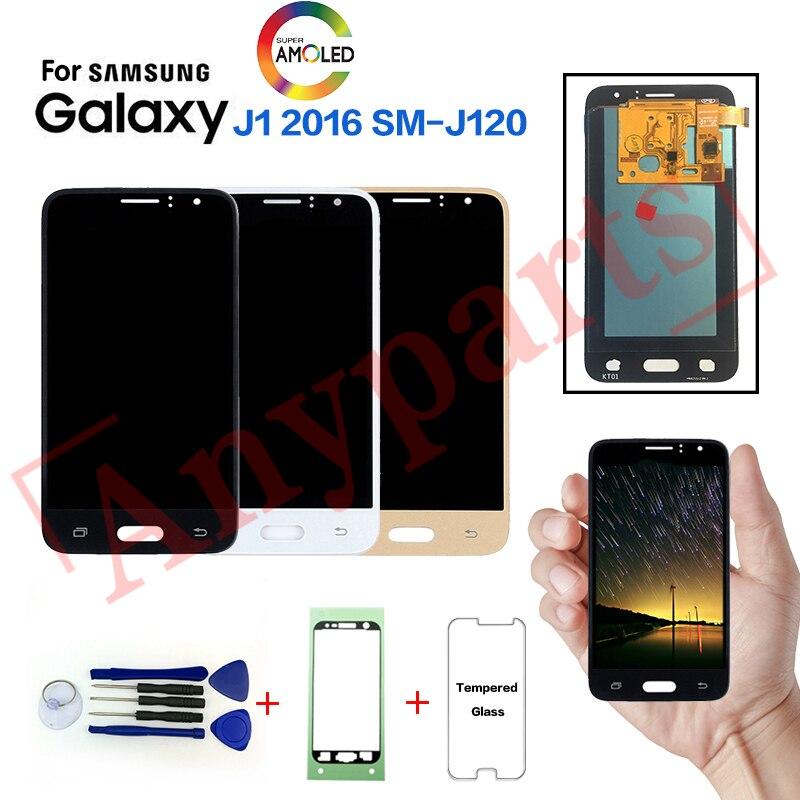 AMOLED LCD pour Samsung Galaxy J1 2016 SM-J120F écran d'affichage pour SAMSUNG SM-J120FN J120G J120H J120M lcd remplacement de l'affichage