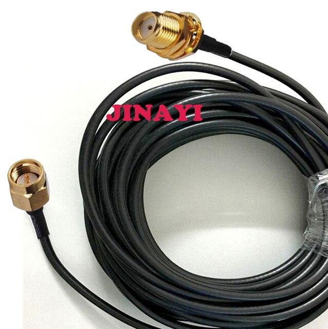 SMA żeńskie gniazdo na SMA wtyk męski RG58 koncentryczny Pigtail WIFI niskie straty kabel 1 m 3 m 5 m 10 m 15 m 20 m 30 m