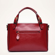 New 2018 PU Leather Women Handbag Famous Brand Fashion Patchwork Oil Wax Leather Shoulder Bag Solid Women Bags sac a main