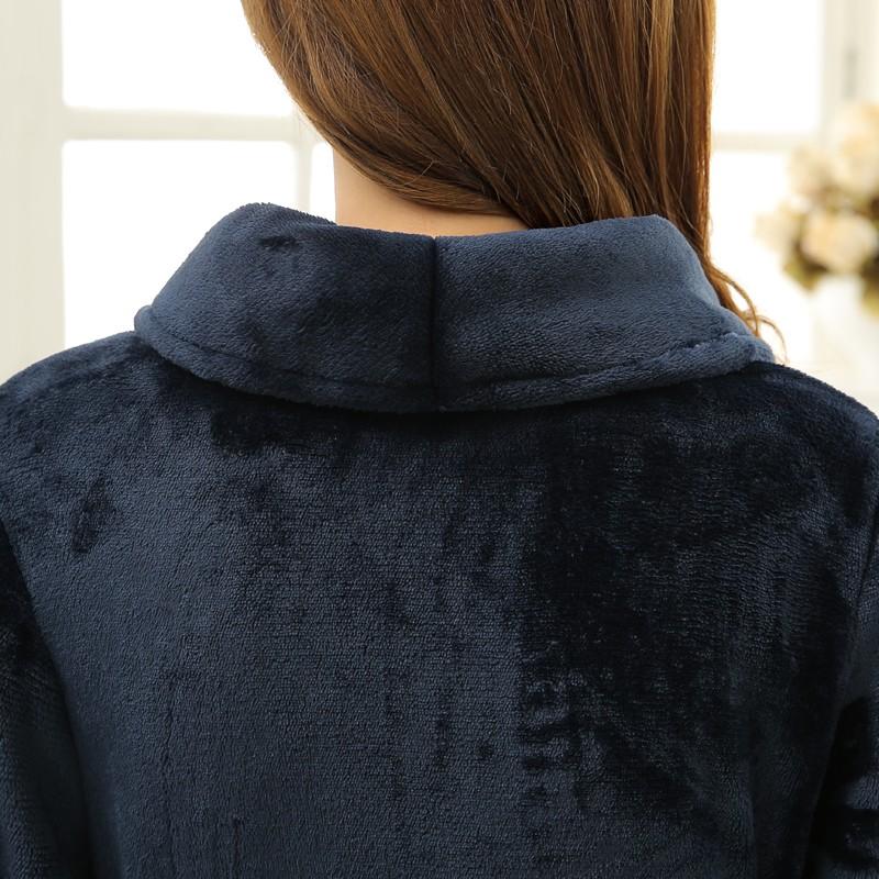Unisex Mens Women\'s Long Polyester Sleep Lounge Robes RBS-C LYQ114 37