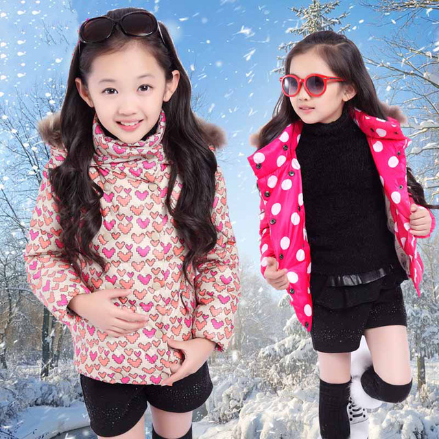 4 5 6 7 8 9 10 11 12 13 Years Girls Jacket Winter Down Coat For ...